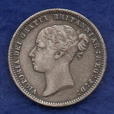 Great Britain, Victoria, 1873 Sixpence, Die No. 91 (Ref. c6023)