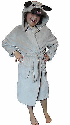 WHOLESALE CLEARANCE 30 or 60 PIECES PUG Childrens Dressing Gown Robe Age 2-6