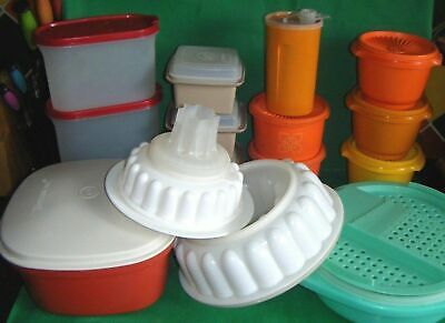 choose 1 vintage TUPPERWARE CONTAINER steamer JELLY MOULD storage container (H)