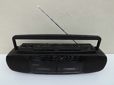 Vintage Retro 1990s Hitachi TRK-W240E Ghettoblaster Boombox I Pod Connect Tape
