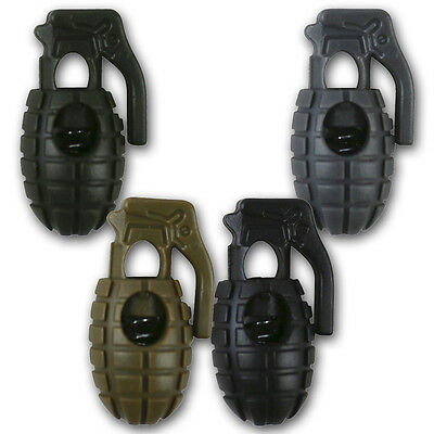 ARMY MILITARY GRENADE CORD STOPPER TOGGLE QUICK FASTEN PACK OF 8 NEW COYOTE