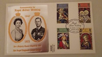 Guernsey Stamps First Day Cover, Royal Silver Wedding 1972