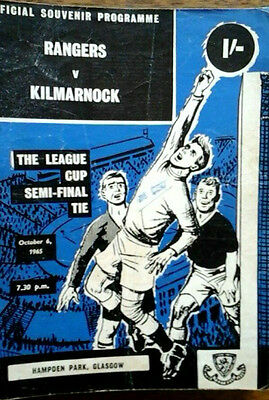 Rangers V Kilmarnock 6/10/1968 Scottish League Cup Semi Final