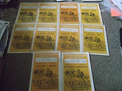Castleford Rugby League Programme Collection Homes 1960 - 1962 X 10
