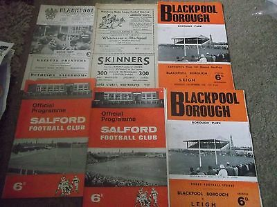 Blackpool Borough Rugby League Programme Collection Home & Aways 1960S X 6