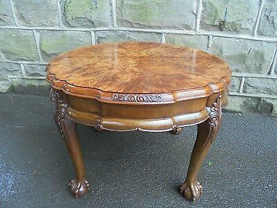 Quality Antique Burr Walnut Coffee Table