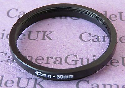 42mm to 39mm Male-Female Stepping Step Down Filter Ring Adapter 42mm-39mm UK
