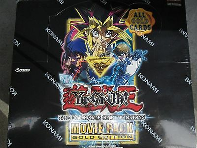 Yugioh The Dark Side Of Dimension Movie Pack Gold Edition Display Box Of 10