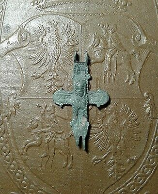 Ancient Bronze Cross-encolpions. 9th to the mid-13th century.  # 5.