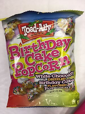 Toad Ally Snax Birthday Cake Popcorn Choc 2 Bags Only American Date Gone 85G Tas