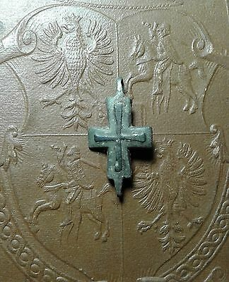 Ancient Bronze Cross-encolpions. 9th to the mid-13th century.  # 20.