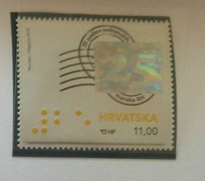 O) 2016 Croatia, Hologram - 25 Years Of The Issuance Of Stamps Of The Republic,