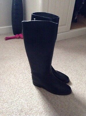 Toggi Long Rubber Riding Boots Size 6.5 Uk 40 Euro