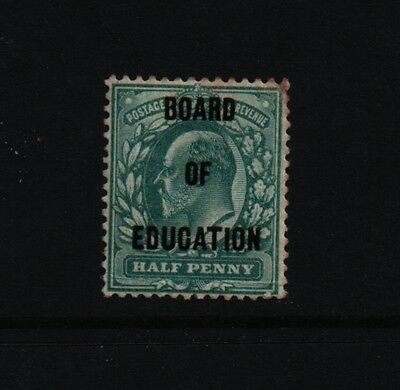 1902 1/2d  BLUE GREEN OVERPRINT BOARD OF EDUCATION SG 091 £375 MM STAMP