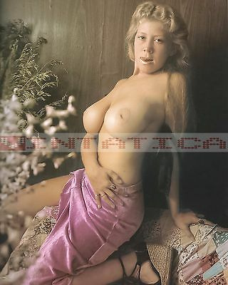 Vintage Busty Blonde Female Nude Risque Pinup Photo 8X10 Print E383 1939-1969