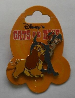 Disney Pin DLRP Cats and Dogs  Lady and the Tramp Pin