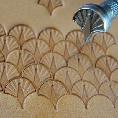 James Linnell - Small Peacock Shell Geometric Stamp (Leather Stamping Tool)