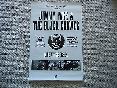 "2000 Jimmy Page & The Black Crowes Live at the Greek Poster 36""x24"" (no frame)"