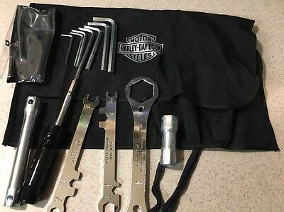 """Harley Davidson Tool Kit for Models with 3/4"""" Front Axle Nut OEM ROLL UP"""
