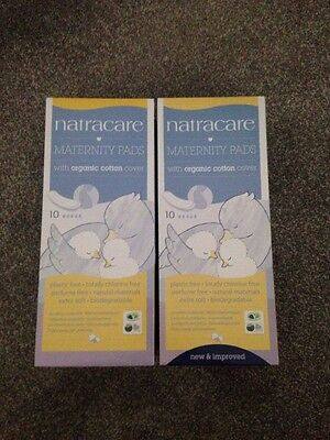 Natracare Maternity Pads With Organic Cotton Cover 10 Pads X2