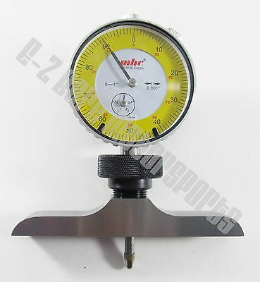 """4.00"""" Wide Precision Dial Indicator Depth Base and 1"""" Travel Dial Indicator"""