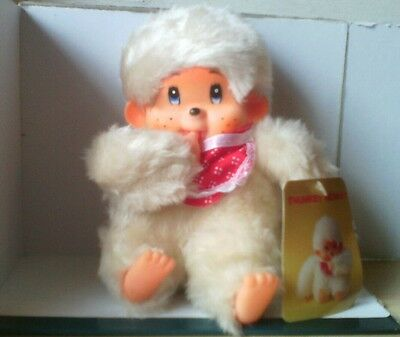 Vintage 1980's THUMKEY MONKEY Russ Berrie  & Co Thumb Sucking chicaboo White