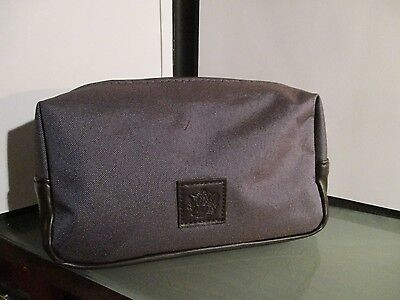 BRITISH AIRWAYS first class amenity kit bag makeup travel blue leather airline