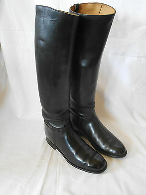 Vintage Langston's Black Leather  Dressage / Hunting  Riding  Boots Size 7 Slim