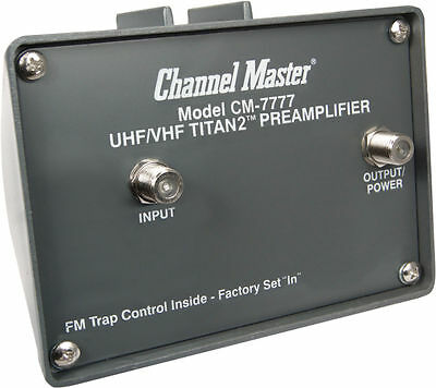 Channel Master Cm7777 Cm 7777 - Titan 2 High Gain Preamplifier For Hd Antenna