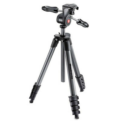 Manfrotto Compact Advanced 3-Way Head Tripod - Black (AUST STK)