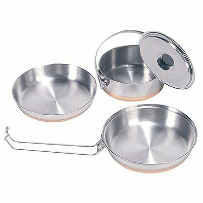 Cookware Set Frying Pan Stainless Steel Skillet Cooking Pots Camping Outdoor