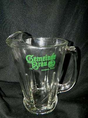 Gemeinde Brau Glass Beer Pitcher Amana Iowa