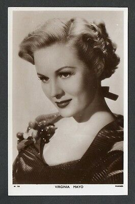 Virginia Mayo Picturegoer W Series Film Star Actress Postcard No. W 730