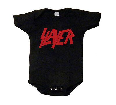 Slayer Baby T-Shirt Red Logo Shirt One Piece Romper Creeper Snap Tee