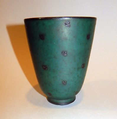 Gustavsberg Argenta Swedish Art Pottery Vase with Gustavsberg Mark
