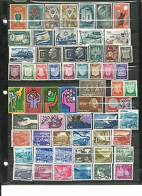 Israel, 60 Singles: 41 Early Issues & 19 Landscapes. All Mint/n-H. Plus Railways