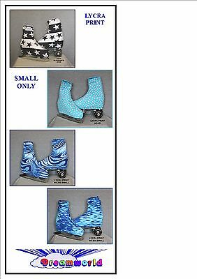 Ice Skating / Roller Skating Lycra Print Boot Covers Small Only