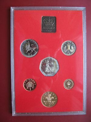 UK British 1981 Proof 6 Coin set 1/2 - 50 Pence cased By Royal Mint No Envelope