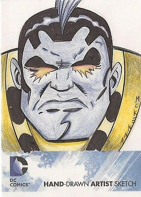 DC Comics: The New 52 OMAC sketch card by Mark McKenna
