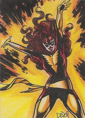 2009 DARK PHOENIX PSC sketch card by Penny Clark