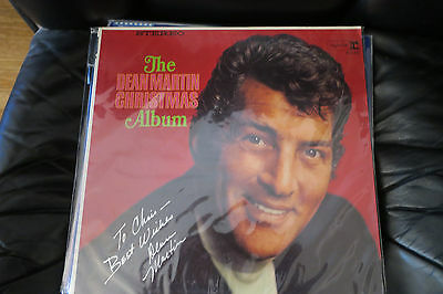 Dean Martin signed the Dean Martin Christmas lp