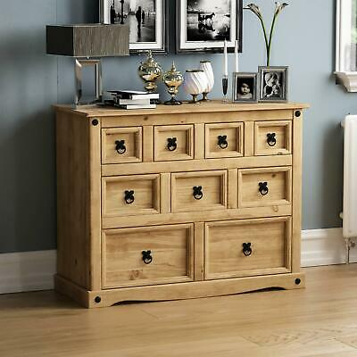 CORONA 4+3+2 DRAWER MERCHANT CHEST Storage Cabinet Solid Waxed Pine Furniture