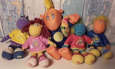 Set of Vintage Tweenies Dolls Plush Soft Toys Hasbro 1998 & Jake Bath Beanie