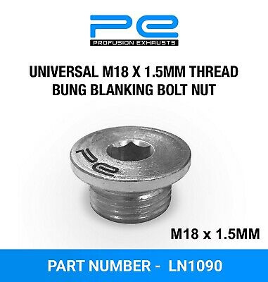 Universal M18 x 1.5 Thread Bung Blanking Bolt Nut For 02 Lambda Sensor Port