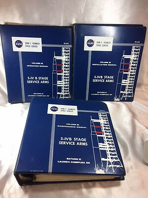 Lot Of 3 Nasa 1965 Saturn V Launch Complex 39 Manuals, S-Ivb Stage Service Arms