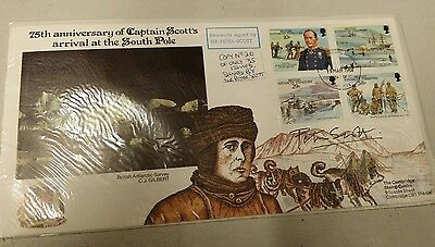 1987 BRITISH ANTARTCTIC TERRITORY 1st Day Cover Signed by Sir Peter Scott