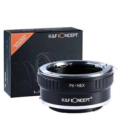 K&F Concept Lens Mount Adapter for Pentax PK K Mount Lens to Sony NEX E-Mount Ca