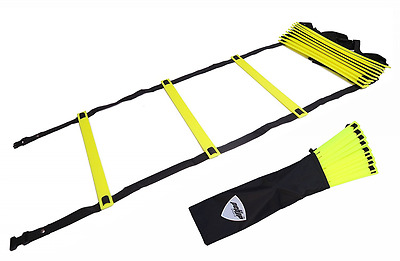 Pepup Sports Super Flat 12 Rungs Adjustable Speed Agility Ladder with Carry Bag,
