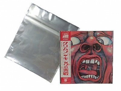 "100 Plastic Record Outer Sleeves(C) 12"" LP LD Designed by Vintage Music Japan, 1"
