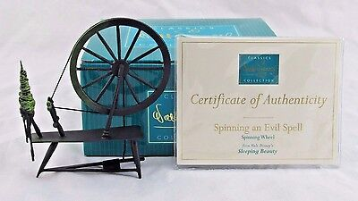"""WDCC """"Spinning an Evil Spell"""" Spinning Wheel from Sleeping Beauty in Box COA"""